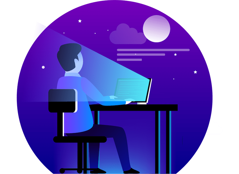 Images Illustrations Man Developing Website on Desk