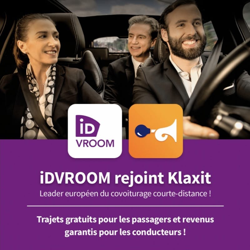 Fusion/Acquisition de IDVROOM à la SNCF par Klaxit